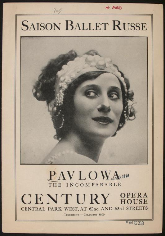 Anna Pavlova (Performance Program), 1915.