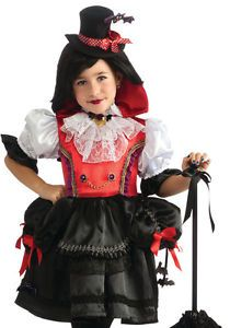 Victorian Vampire Childs Halloween Fancy Dress Costume