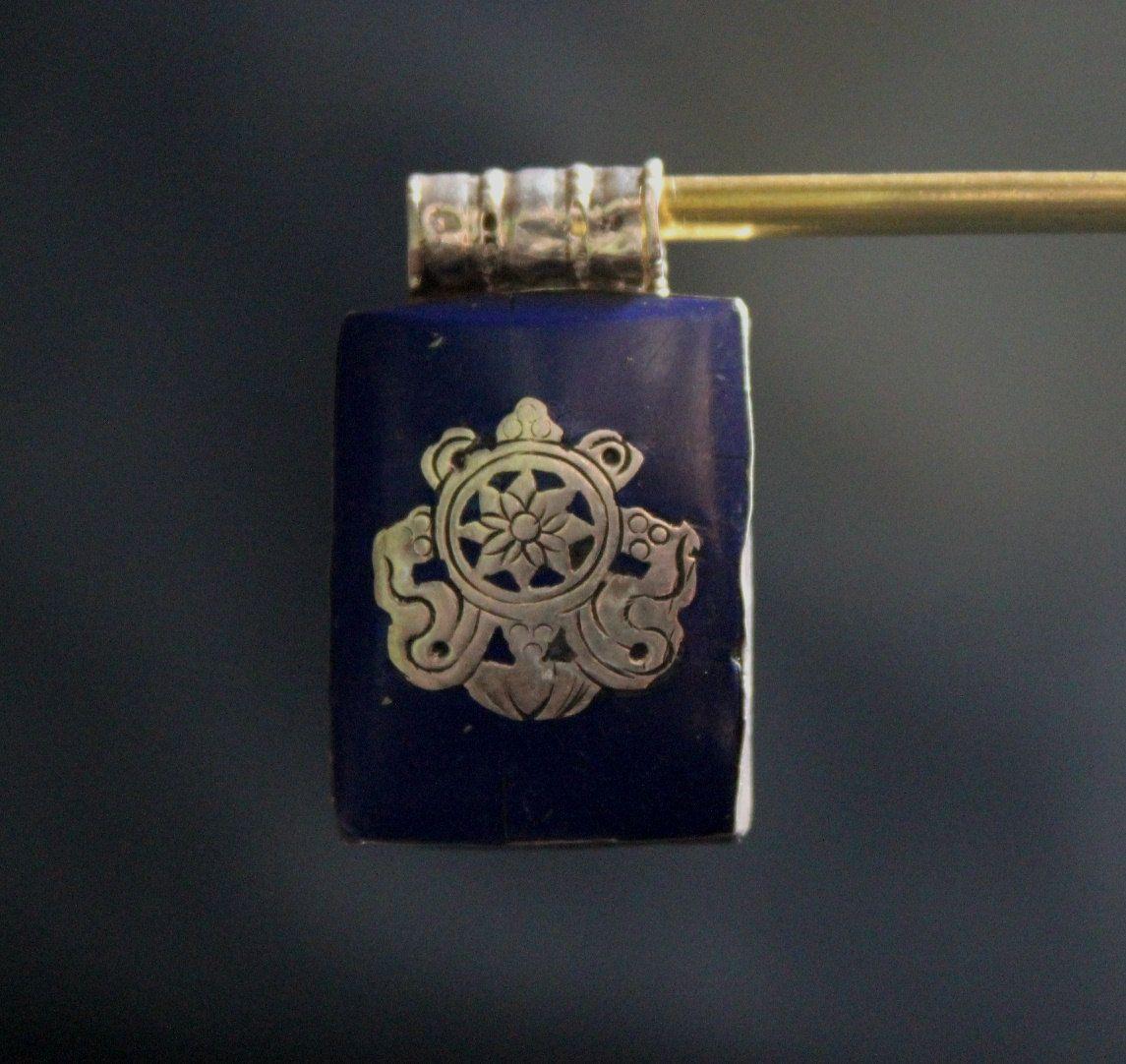 925 Sterling Silver Lapis Tibetan Ghau Pendant Handmade in Nepal by ShakyaHandicraft on Etsy