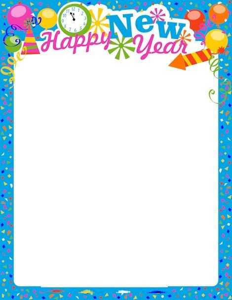 happy new year coloring pages scrapbook frames scrapbook borders borders for paper borders