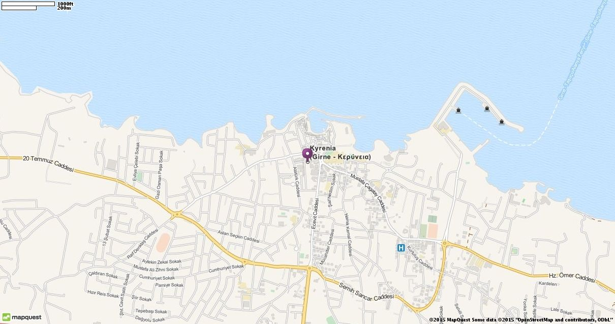 Editable Map of Kyrenia Cyprus Places to Visit Pinterest