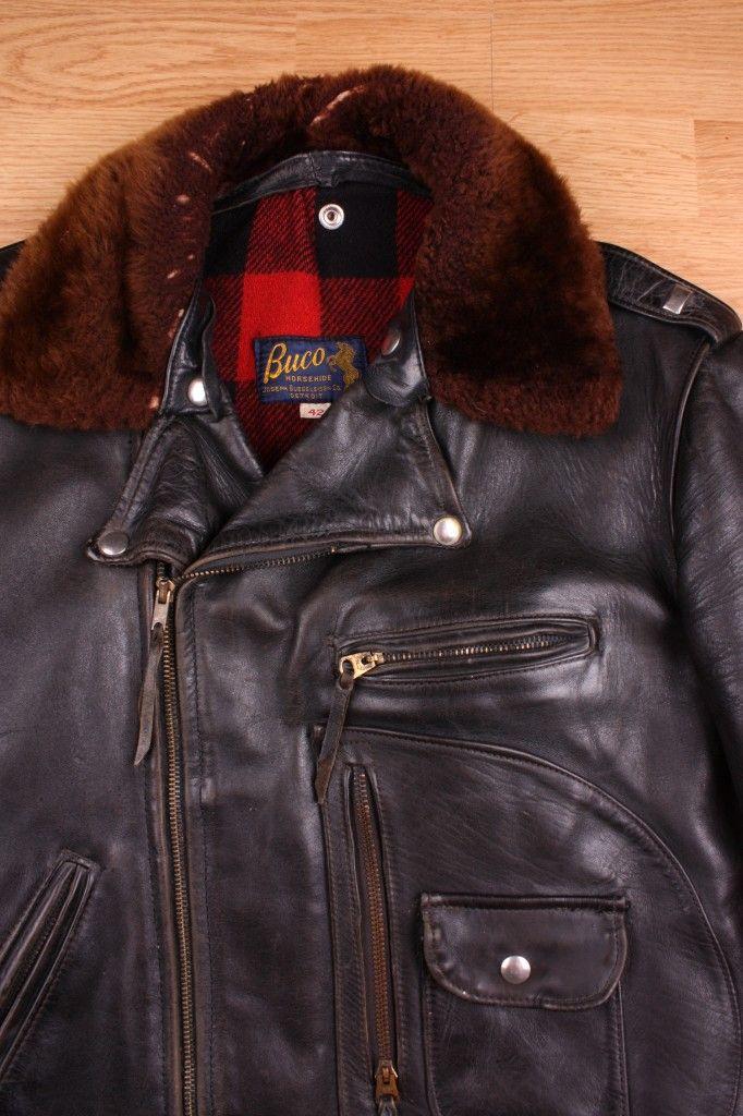 78ee2c31572 Buco Leather Motorcycle Jacket in horsehide.   Vintage Motorcycle ...