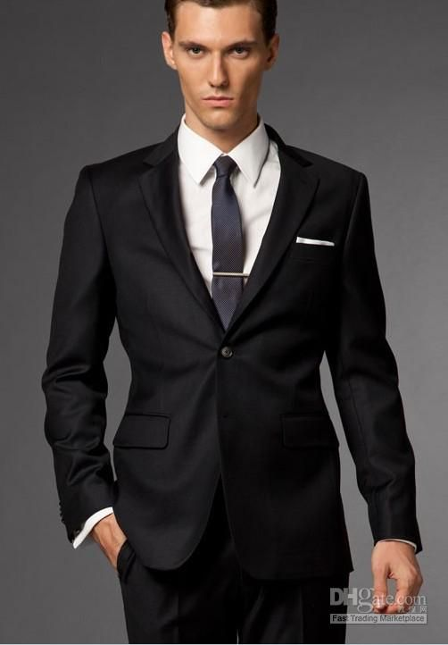 Mens Suits Men Suit Dress Blac Men Suit Custom Made Suit Fashion ...