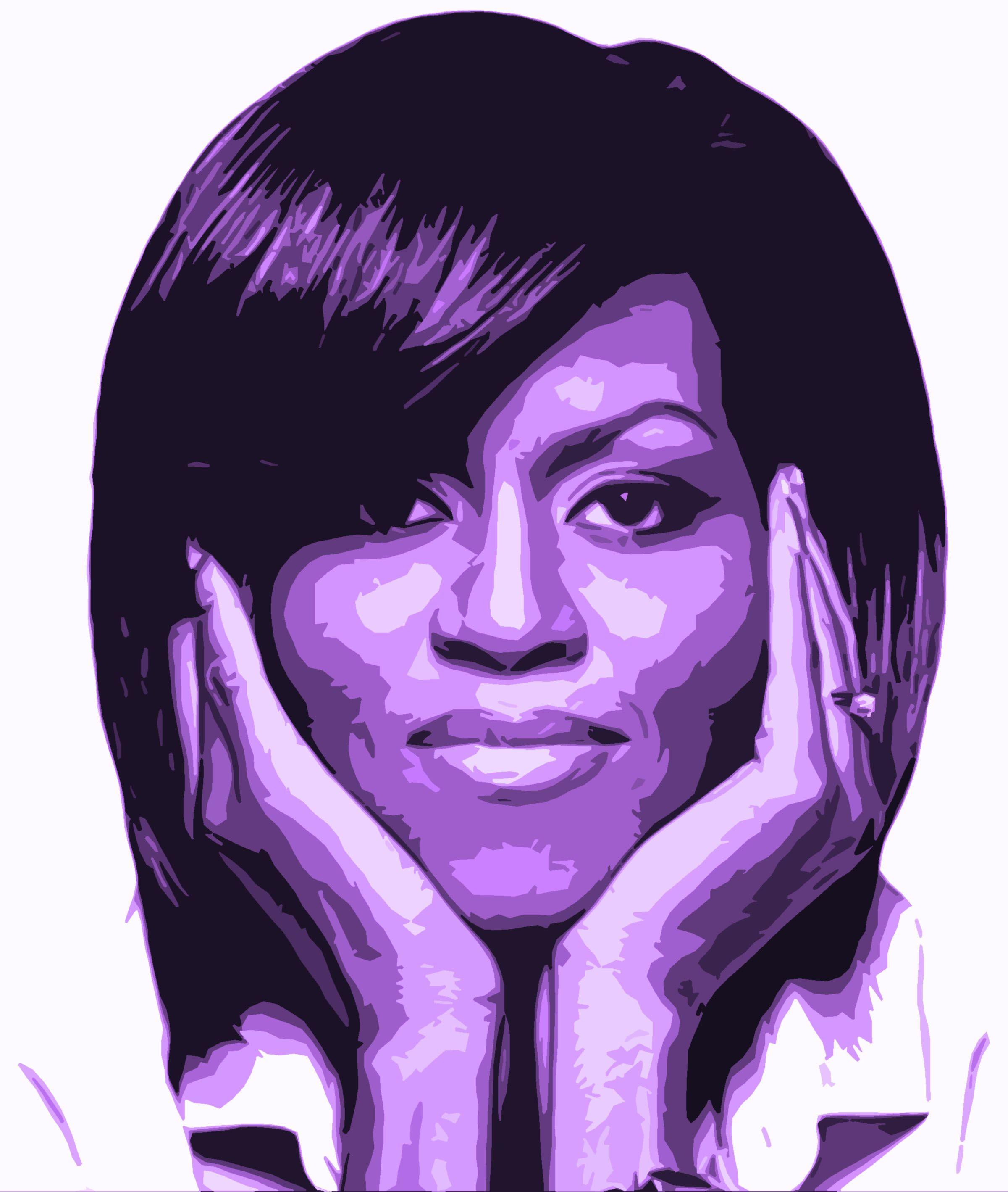 0d5cc9dce8e Michelle Obama... monochromatic portrait Obama Painting