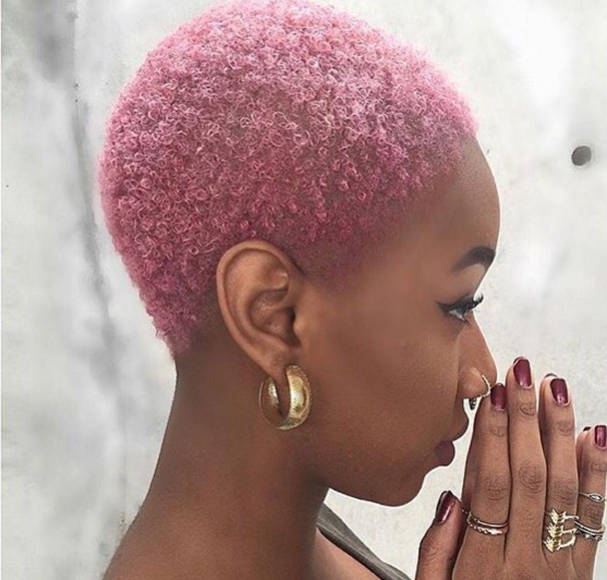 pink twa twas natural hair