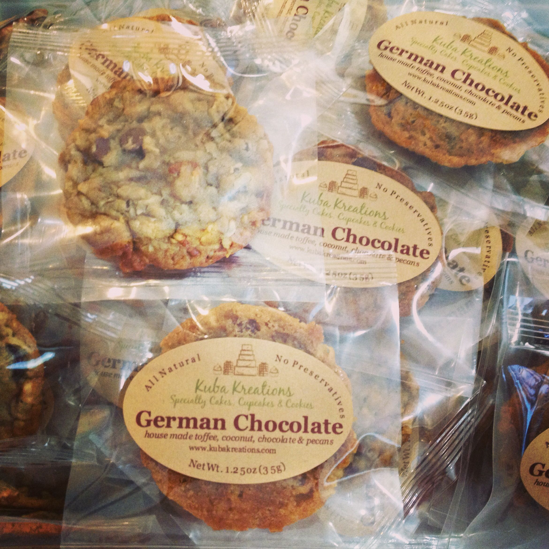 German Wedding Gift Ideas: #german #chocolate #cookie #wedding #favors