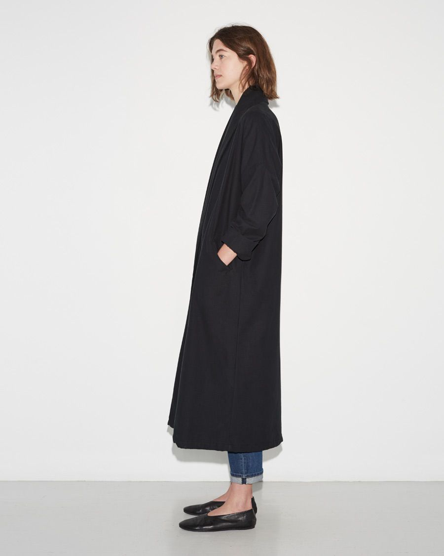 Black crane long coat shop at la garçonne my style pinterest