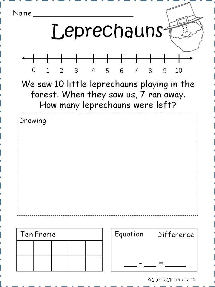 Subtraction Problem Solving For Kindergarten  Bing Images