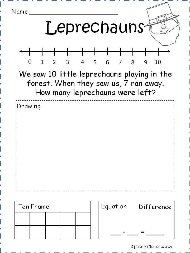 subtraction problem solving for kindergarten - Bing Images | october ...