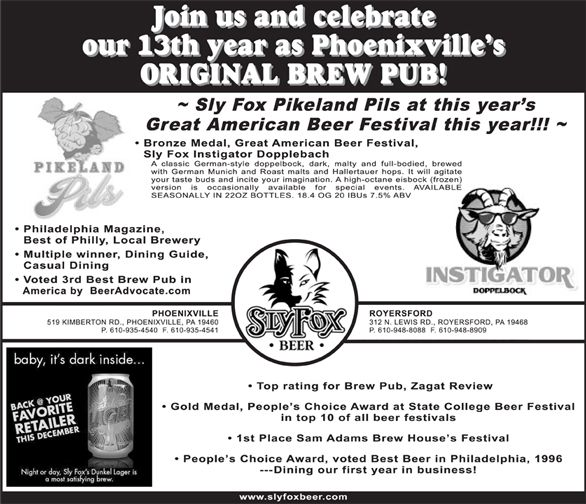 Created newspaper ad for Sly Fox debut opening. (Phoenix Newspaper)