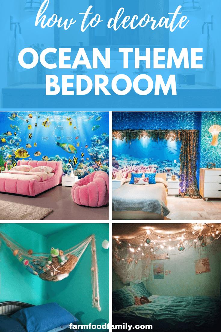 25 Ocean Themed Bedroom Ideas How To Design An Beach Bedroom Ocean Themed Bedroom Ocean Decor Bedroom Beach Themed Bedroom