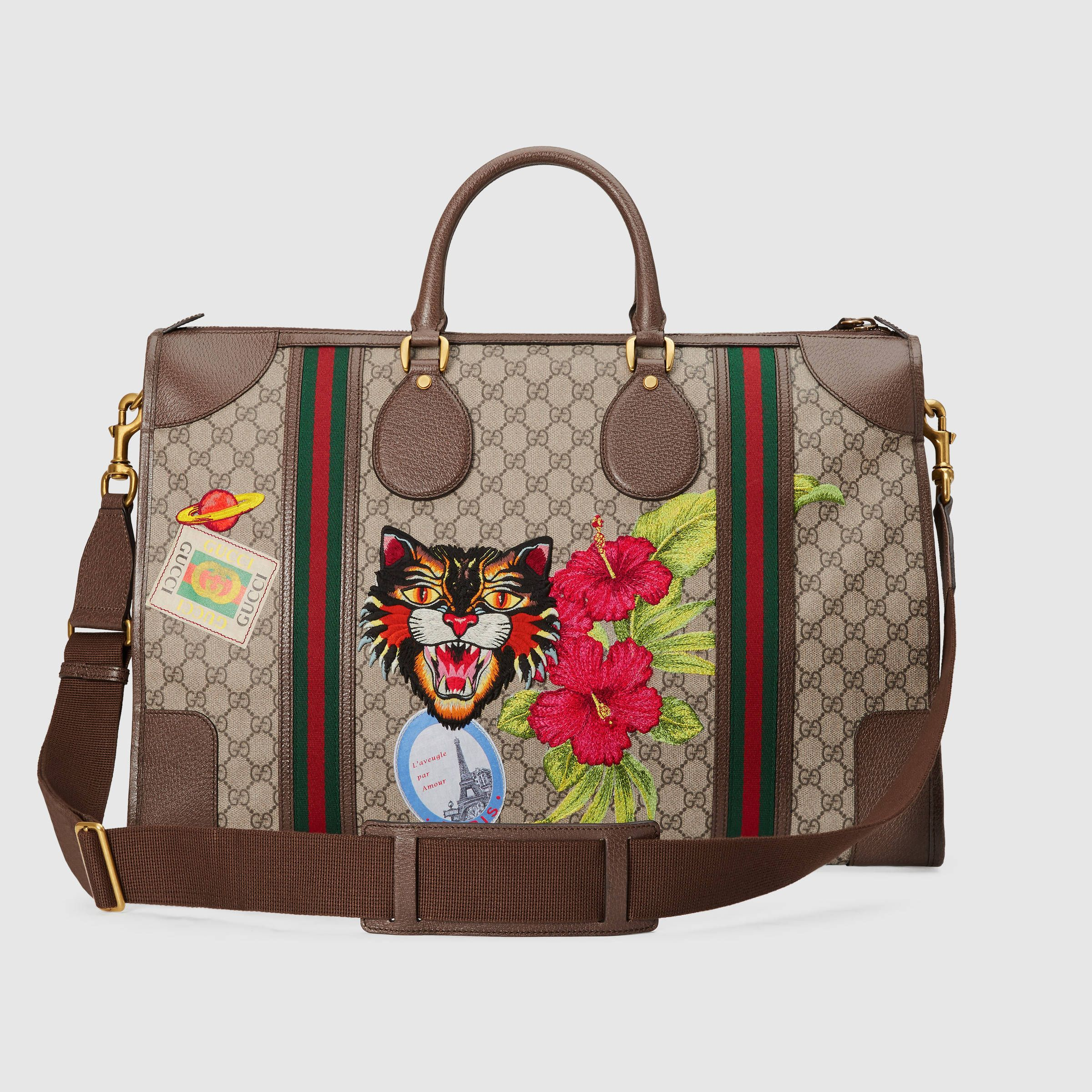 46c17ba48003 Gucci Courrier soft GG Supreme duffle bag | Bags, Bags and more Bags ...