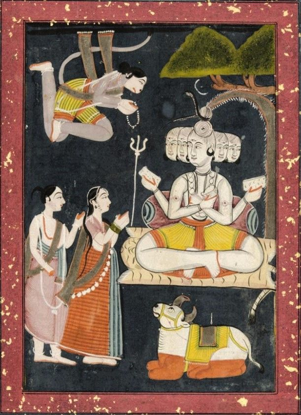 The Adoration of Sadashiva Made in Rajasthan or Madhya Pradesh, India. Date: After 1825
