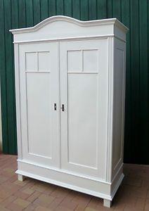 Schöner Kleiderschrank In Weiß Antik Jugendstil Möbel Schrank Landhausstil  | EBay