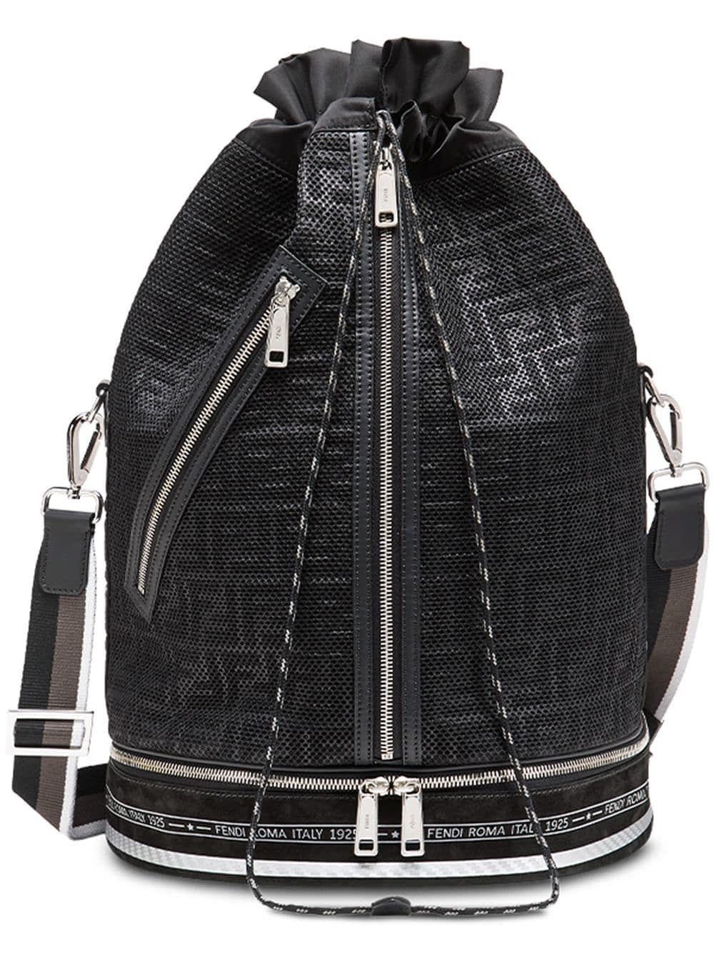 416b0b1c0773 FENDI FENDI MON TRESOR SPORTS BAG - BLACK.  fendi  bags  shoulder bags   leather
