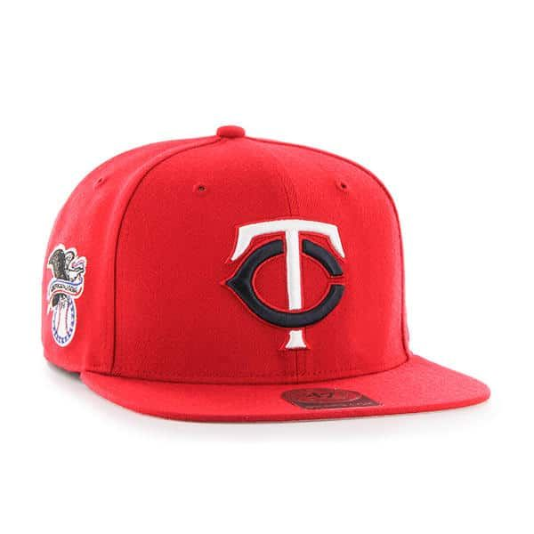 02eceed458e02 Minnesota Twins 47 Brand Red Sure Shot Adjustable Hat