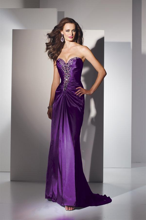 Vestido Elegante para Fiestas de color Púrpura | vestidos elegantes ...
