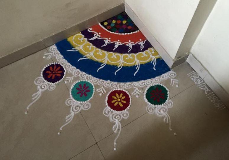 Corner Rangoli Designs