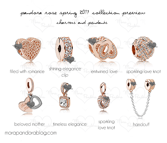 pandora charms rose gold 2017