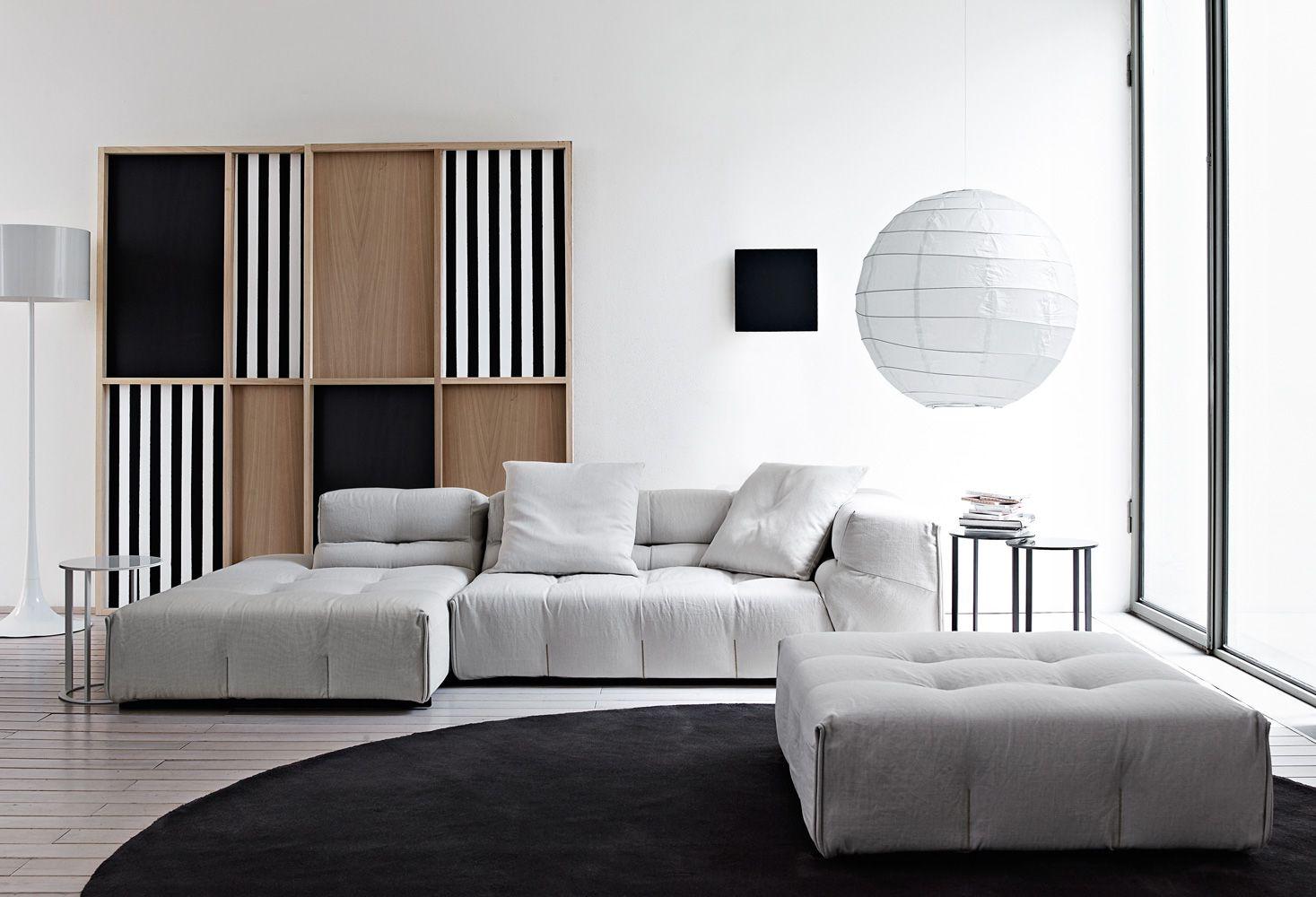 TuftyToo modular sofa from B & B Italia Minimalist sofa