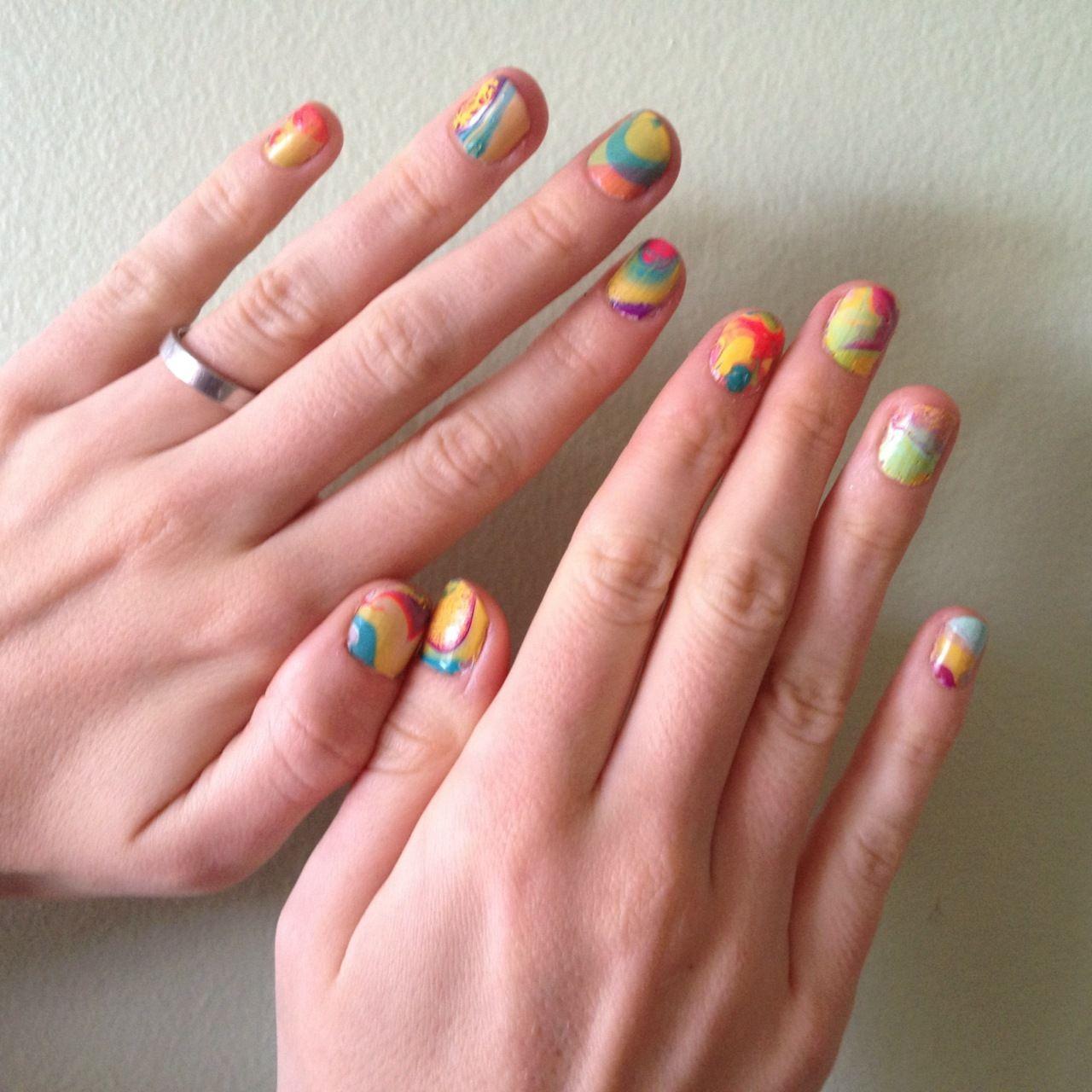 Tie dye nails emi pinterest tie dye nails pastel nails and makeup