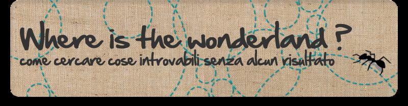 Where is the wonderland?... craft blog
