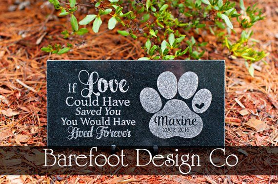 Free Us Shipping Granite Personalized Pet Memorial Stone