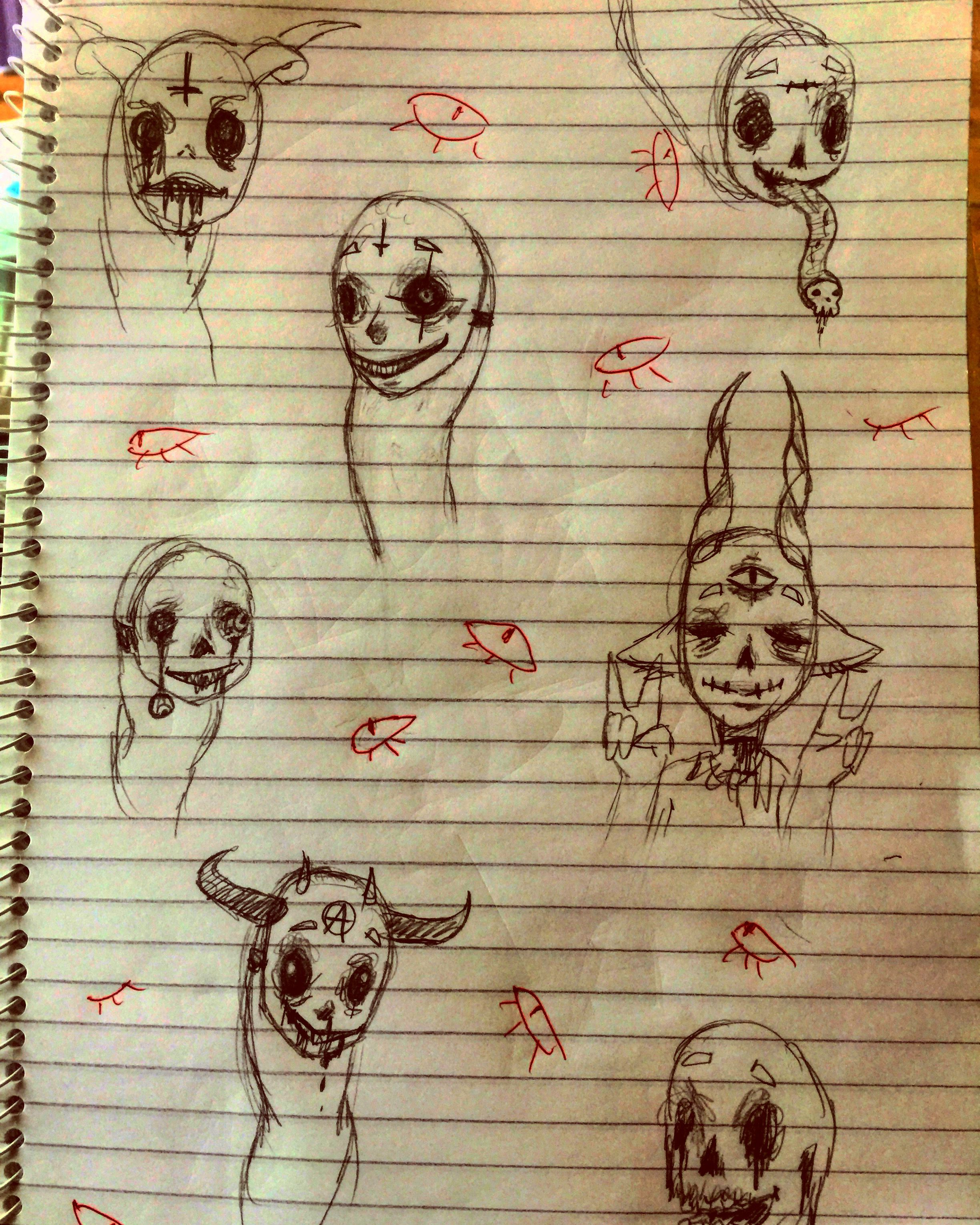 Art Draw Creepy Scary Horror Sketch Sketchbook Demon