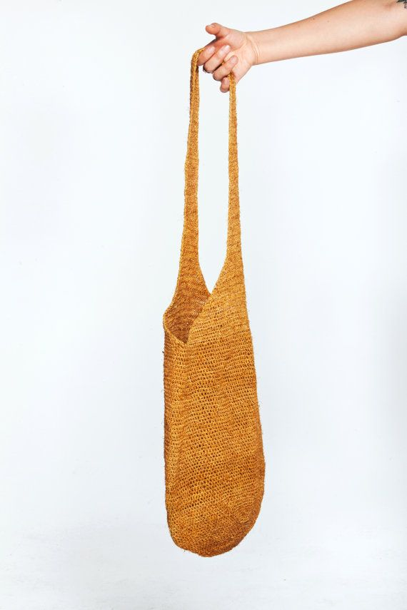 raffia knit bag by Las Bañistas $48