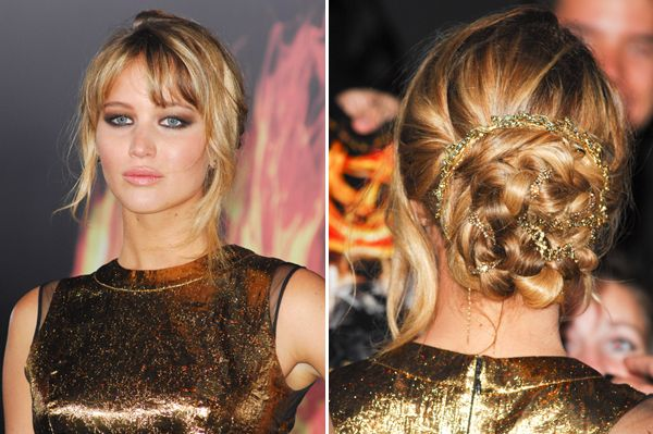 Get the look: Jennifer Lawrence's  The Hunger Games premiere hair