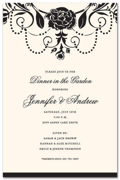 Wedding Brunch Invitations Medici Black  Brunch For Wedding