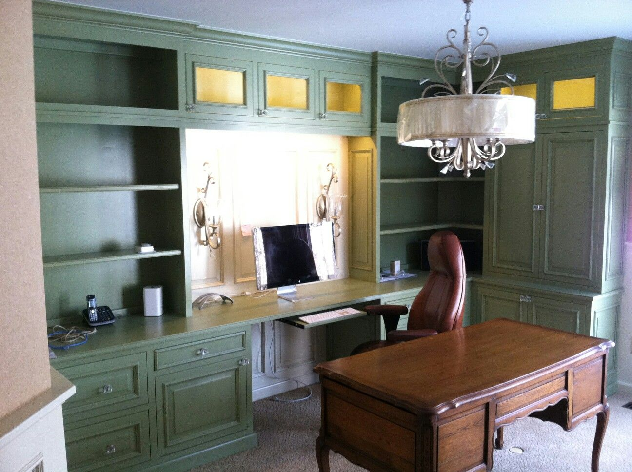 I Just Installed The Cabinets U0026 Wainscoting (Yoder Custom Woodworking). But  Turned Out