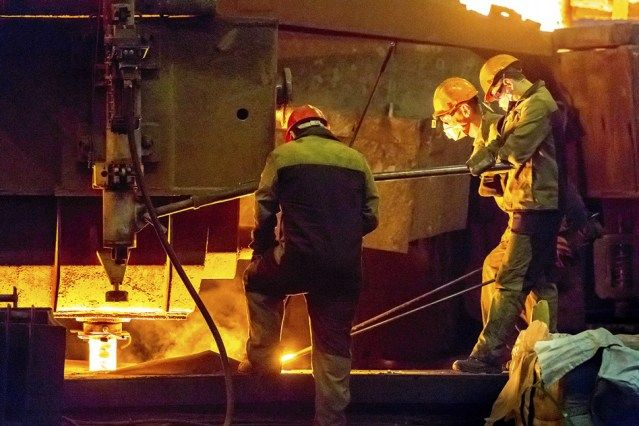 "A new book, ""Politicized Enforcement in Argentina"" (Cambridge University Press), by Matthew Amengual investigates worker safety and the global realities of labor-law enforcement. Here, a group of metal workers assist in steel production."