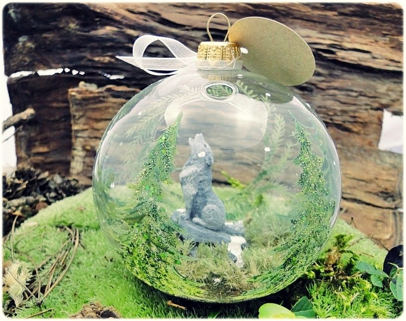 Bombka Szklo Szary Wilk Las Recznie Malowana 7683941972 Oficjalne Archiwum Allegro Christmas Bulbs Christmas Ornaments Holiday Decor