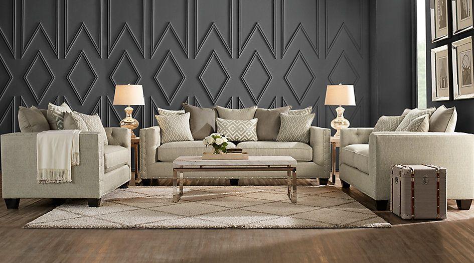 Cindy Crawford Home Chelsea Hills Beige 5 Pc Living Room ...