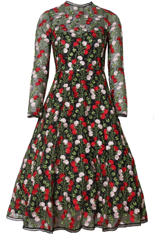 alexis lou dress rose embroidery party season 2016 pinterest