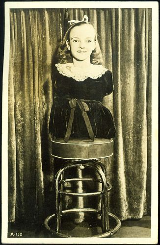Freida Pushnik, Armless and Legless Wonder Girl.  Apparently she was born in Conemaugh and went on to be a part of Ripley's Believe it or Not, when it was first starting out, and then later joined the Ringling Brothers. She lived to be 77; she died in 2000.
