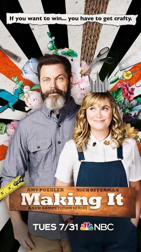 get glued to making it on july 31 on nbc amy poehler and nick offerman are back to bring you a. Black Bedroom Furniture Sets. Home Design Ideas