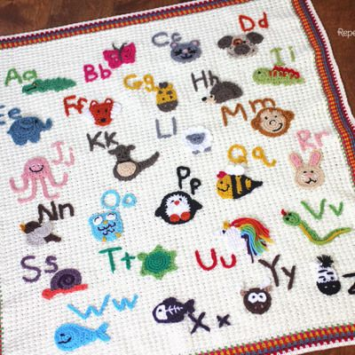 Crochet Animal Alphabet afghane