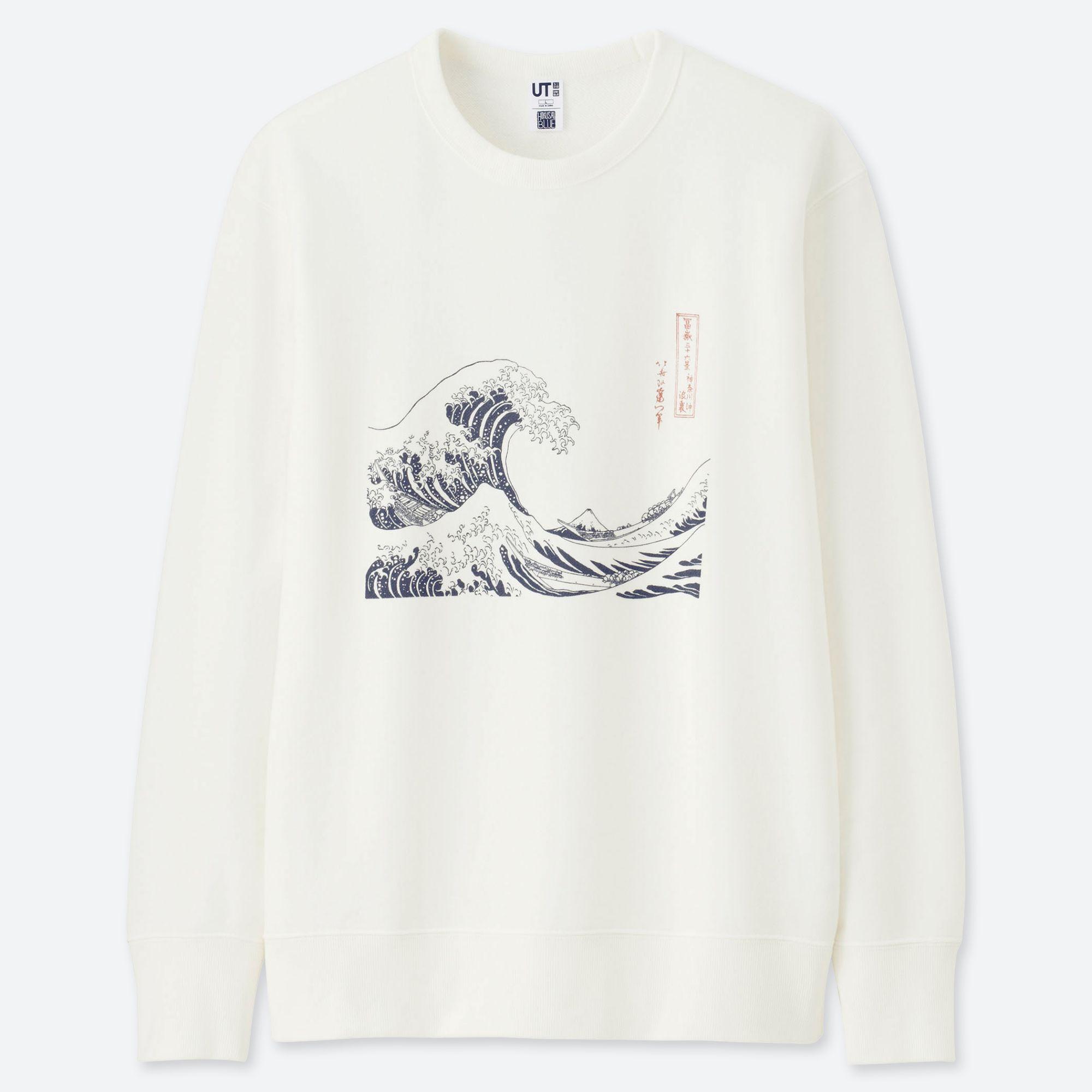 Wave Sweatshirt Print Graphic Style Jumper Hipster Art Indie Retro Sweat Top
