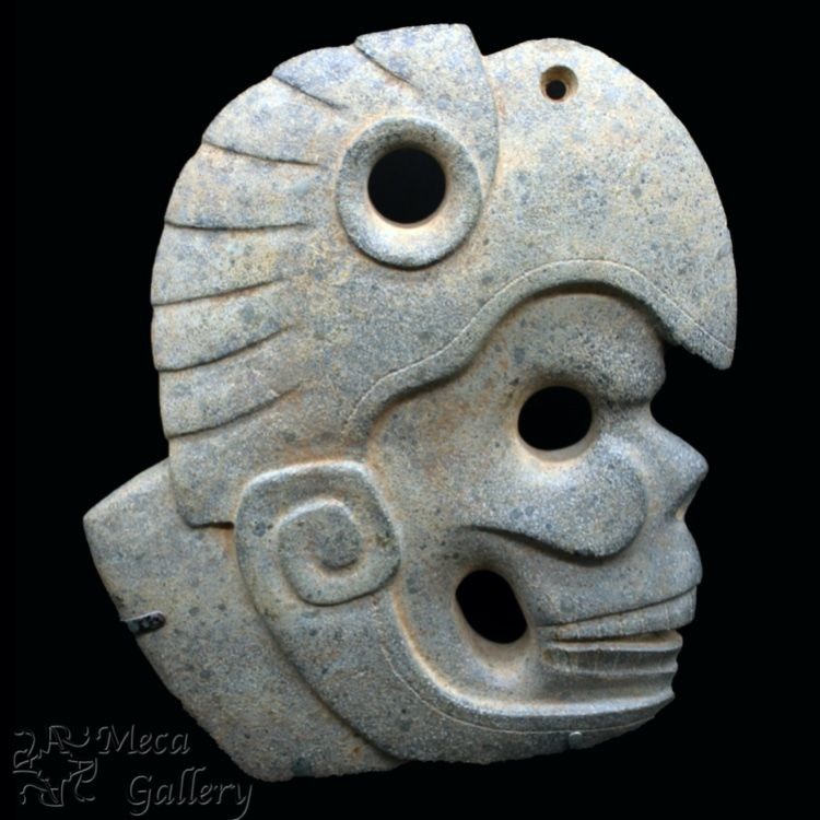Hachas are a distinctive form associated with art from the Classic Veracruz culture, which flourished along the coast of the Gulf of Mexico between A.D. 300 and 900. In addition to appearing in Veracruz iconography, hachas have been recovered from archaeological excavations, where they were discovered with yokes in elite tombs. Over the course of the Classic period (ca. A.D. 300–900) in Veracruz, artists began to create hachas that were slimmer and blade-like, such as this piece.