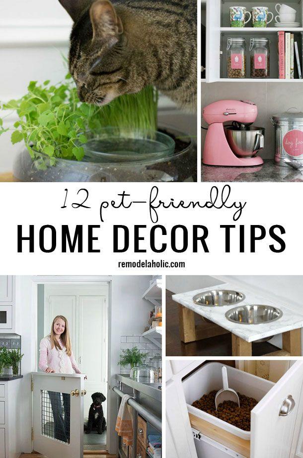 12 Pet Friendly Home Decor Tips Remodelaholic Home Decor Tips Dog Home Decor Pet Friendly