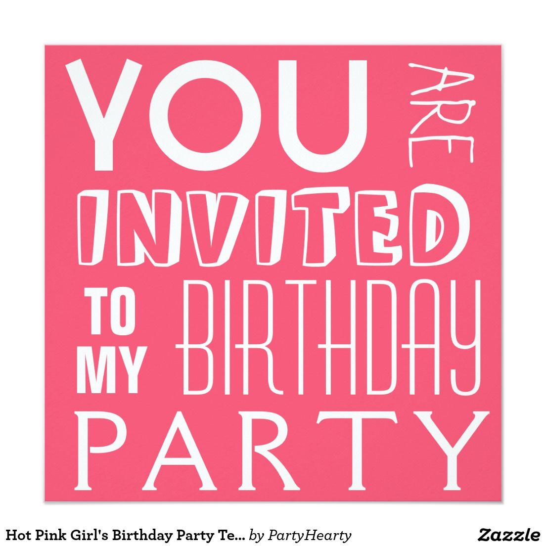 Beautiful Girl Invitations Birthday Party Image - Invitations and ...