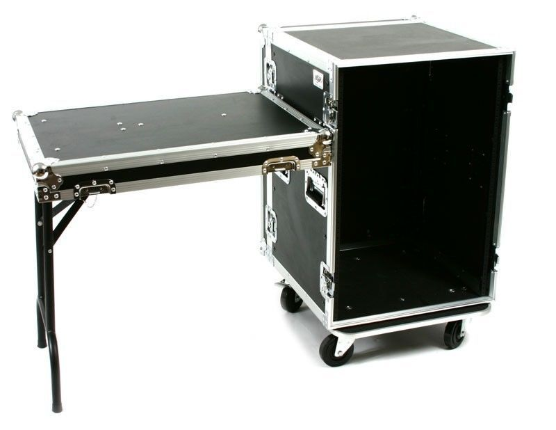Osp Rack Case 16 Space Dj Ata Road Case 20 Deep W Lid Table Rc16u 20sl 759681001768 Ebay Rack Work Boxes Casters