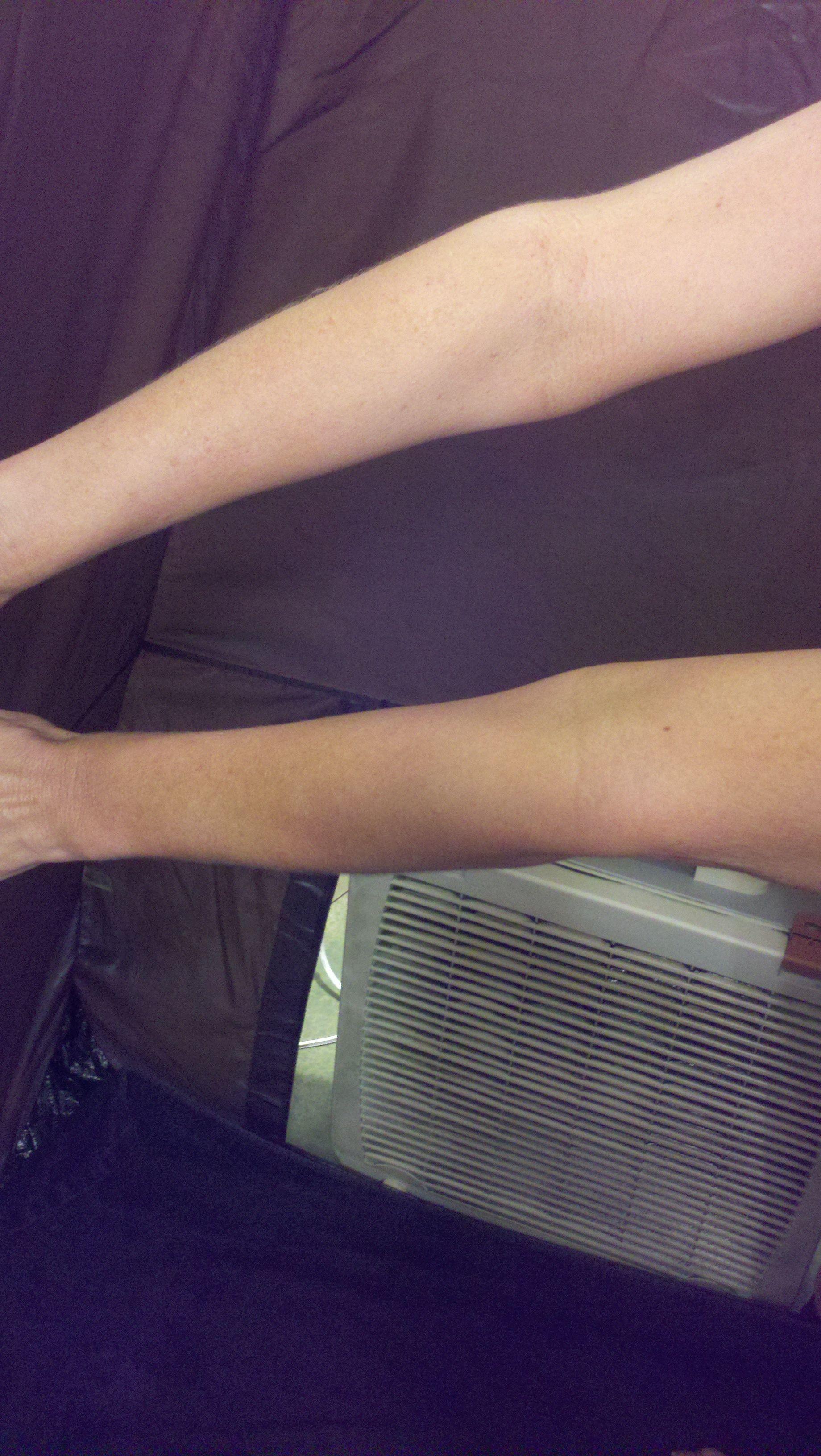 Spray tan before and after using Kahari Rapid Tan spray