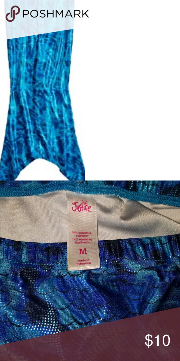 285e492a22 Summer coverup from justic Shimmery mermaid tail coverup with dye effect  scale design, Flutter detail at back, Elastic waist, size 5/6, M this has  only been ...