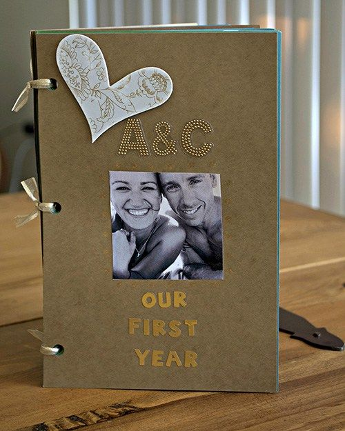 DIY One Year Anniversary Scrapbook Gift For Boyfriend