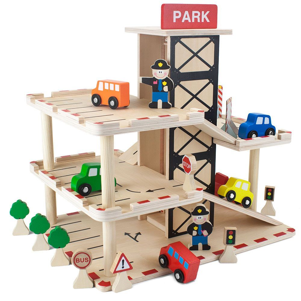 Toy Garages For Boys : Wooden wonders downtown deluxe parking garage diy