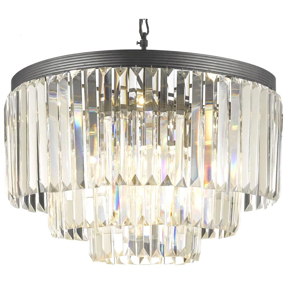 Odeon Crystal Glass Fringe 3 Tier Chandelier Com Ping Great Deals