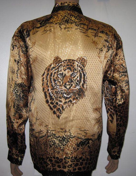 Vintage 1990s Gold 100/% Silk Pajama Style Top